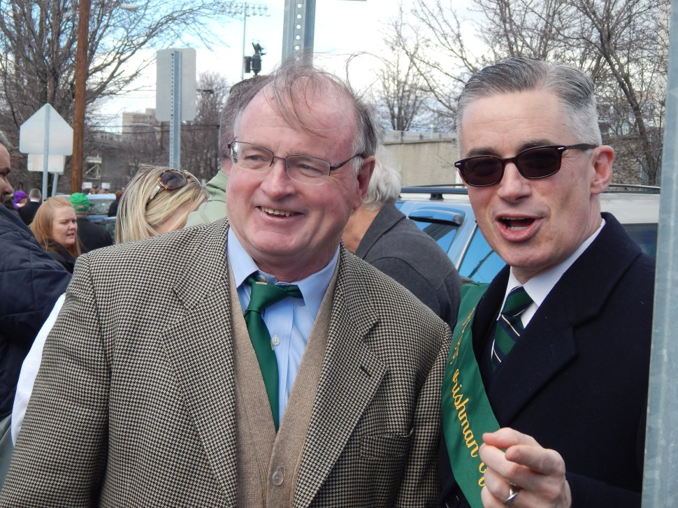 McGreevey, right, with former Jersey City Mayor Jerry Healy.