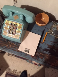 William S. Burroughs' bedside table. (Photo by Nate Freeman)