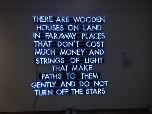 "Robert Montgomery, ""Wooden Houses"" (2013) (Photo: Brianna McGurran)."