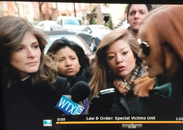 Asking the tough questions: Drew Grant on SVU. (NBC)