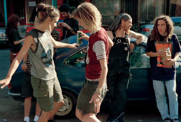Meggin and Jill Dancing, Fifth Street Squat, 1996 (Ash Thayer).