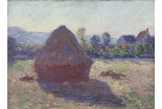 <em>A Haystack in the Evening Sun</em>, a work long rumored to be a Monet. Turns out it actually is. (Courtesy Gösta Serlachius Fine Arts Foundation)