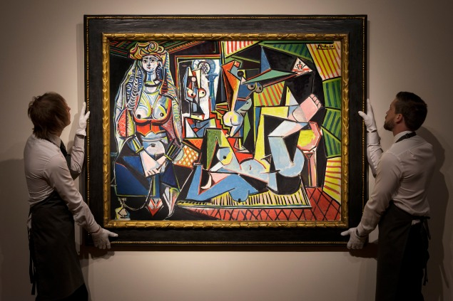 Picasso's Les femmes d'Alger (Version O), photographed at Christie's King Street in London, March 23, 2015. The sale estimate is $140 million. (© 2015 Estate of Pablo Picasso / Artists Rights Society (ARS), New York, courtesy Christie's)