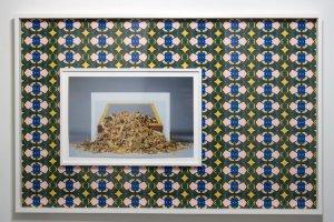 Quisqueya Henriquez, Lyubov Popova/Jackie Winsor, 2014 Ink Jet Print on Dibond (frame inside a frame), 36 ¾ x 56 inches. Courtesy Lynch Tham, New York