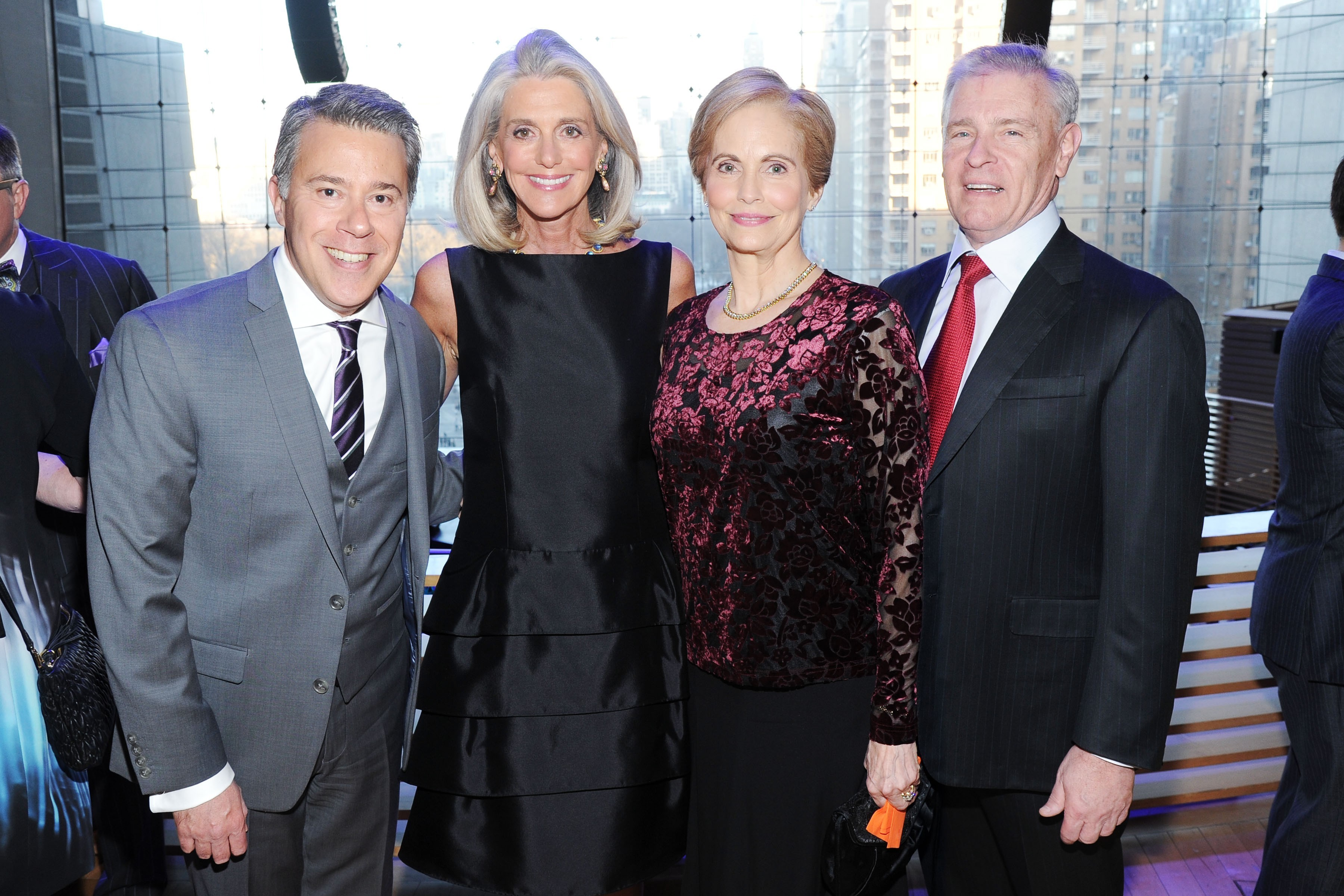 Russell Granet, Ann Unterberg, Diana Peterson and Joel Peterson at Lincoln Center Education Gala (Photo: Patrick McMullan).