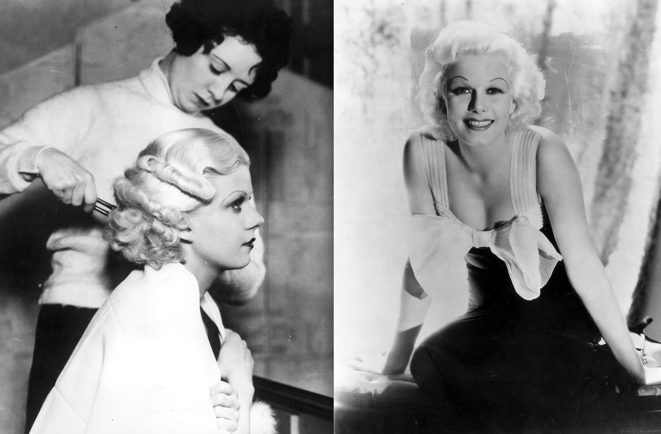 """Jean Harlow, the world's first """"platinum blonde,"""" in 1933 (Photos: Getty)."""