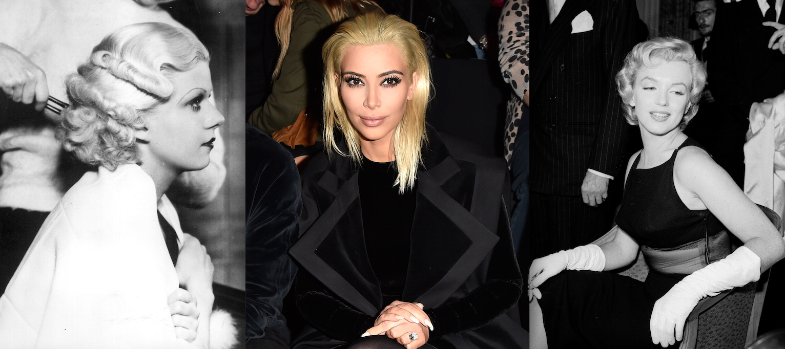 Jean Harlow, Kim Kardashian West and Marilyn Monroe (Photos: Getty).