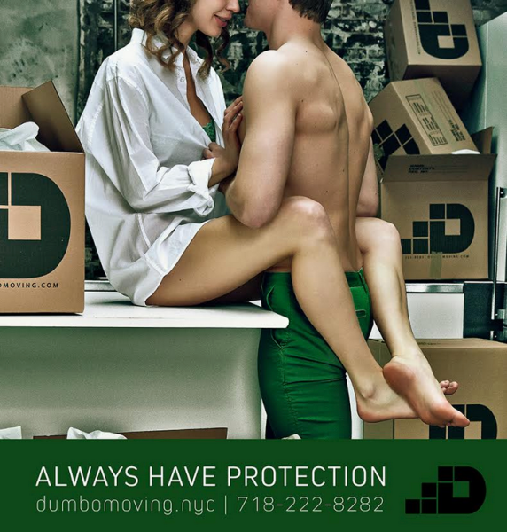 The debatably scandalous ad. (Photo: Dumbo Moving + Storage)