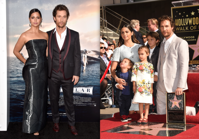Matthew McConaughey's entire family is big on D&G. (Photos: Getty)