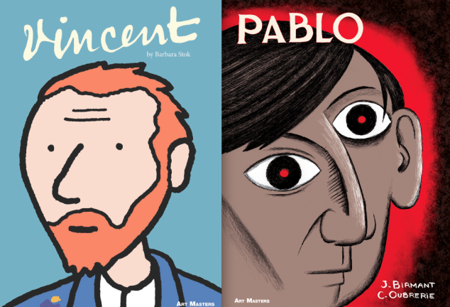Vincent by Barbara Stok and Pablo by Julie Birmant and Clément Oubrerie. Photo: Abrams)