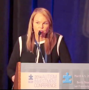 Ms. Thierry speaking at the Autism Investment Tech Conference San Francisco last March. (Photo: Lauren Thierry)