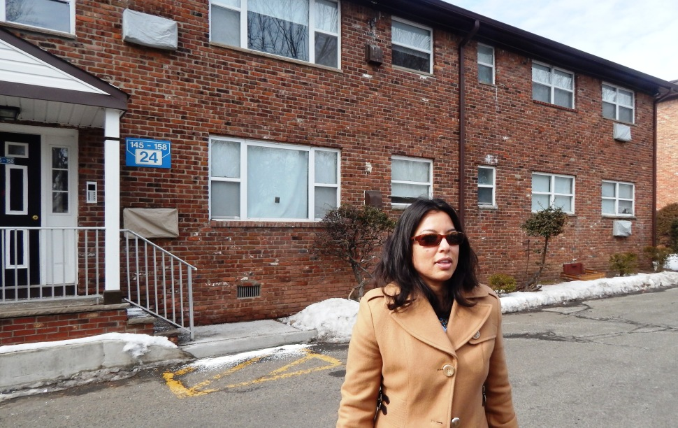 Edison Councilwoman Sapana Shah in the projects where she first lived when her family moved to Edison.