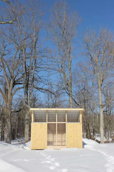 A studio for The Shandaken Project at Storm King. (Courtesy Storm King Art Center.)