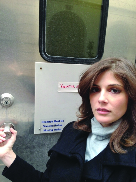 Drew Grant as reporter on Law & Order: SVU.
