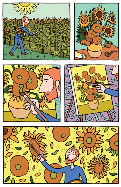 A page from Barbara Stok's Vincent, published by SelfMadeHero and distributed by Abrams. (Photo: Abrams)