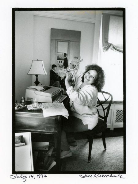 Wendy Wasserstein  photographed by  Jill Krementz in  New York City on  July 14, 1997.