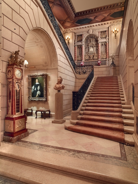 The grand staircase to the second floor of the Frick. (Courtesy The Frick Collection)