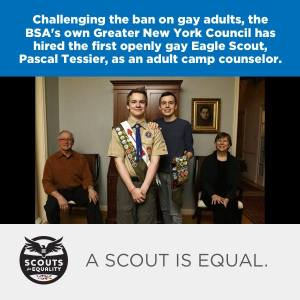 Scouts for Equality responded to Pascal Tessier's hiring with cautious optimism. (Facebook)
