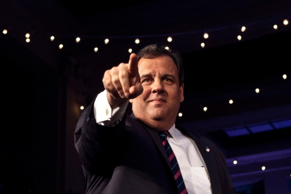 New Jersey Governor Chris Christie attends his election night event after winning a second term.(Photo by Kena Betancur/Getty Images)