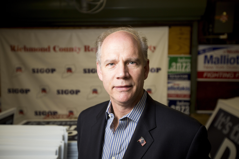 Congressman Daniel Donovan. (Photo: Michael Nagle for New York Observer)