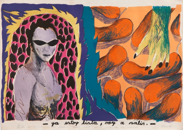 Humberto Castro's - Ya estoy lista, voy a salir, de la serie Cuatro segundos de papel (- I'm Ready, I'm Going Out, from the series Four Seconds of Paper), (1985). (Photo: Bronx Museum of the Arts)