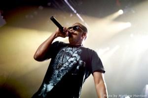 Jay Z performing at UMass.