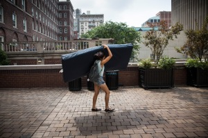 The Columbia student who was accused of rape by Emma Sulkowicz, who then carried a mattress around campus, is suing the school. (Getty)