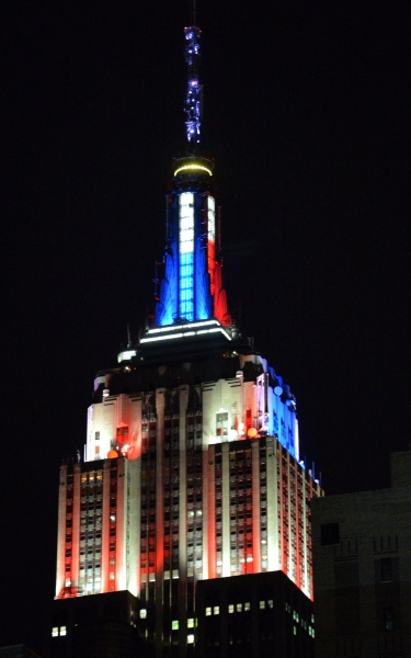 US - VOTE - MIDTERMS - EMPIRE STATE BLDG