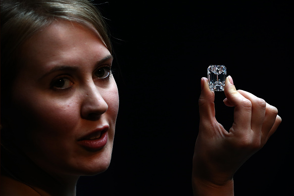 Sothebys sold a 100-carat flawless diamond for $23 million on Tuesday. (Photo: Carl Court/Getty Images)