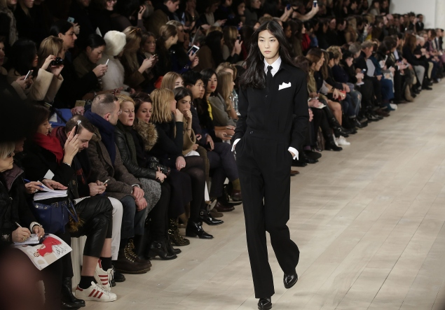 Tuxes were big in Ralph Lauren's fall/winter 2015 collection. (Photo: Getty)