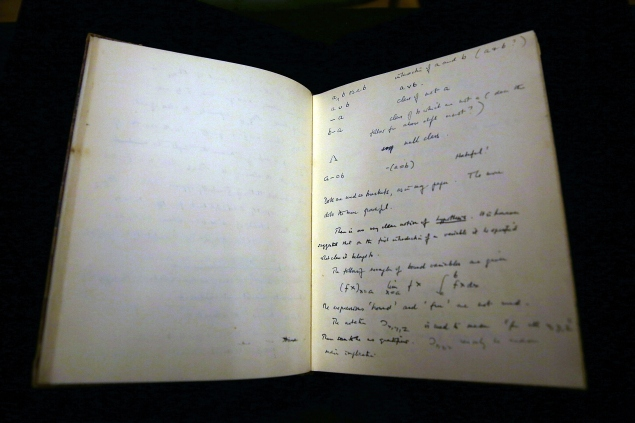 Handwritten Alan Turing Manuscript To Be Auctioned At Bonham's