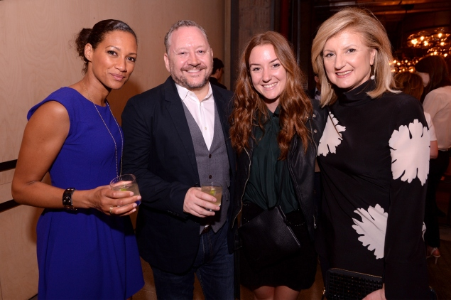 Donna Ruko, Dermot McCormack, Christina Huffington and Arianna Huffington celebrate the film's premiere. (Photo: Getty)