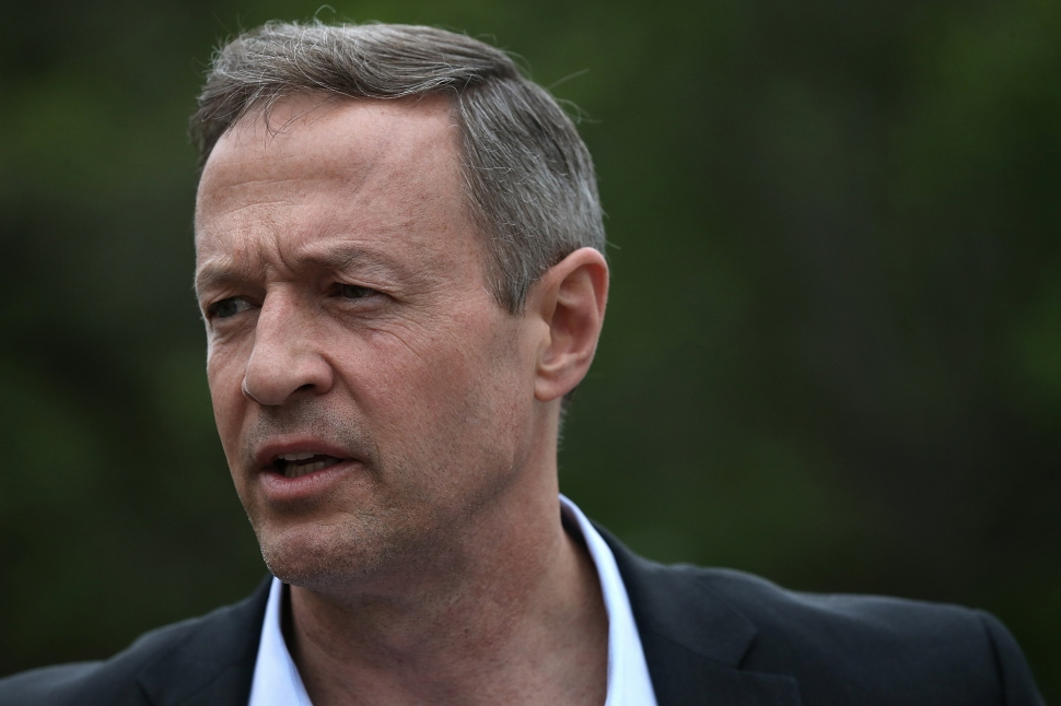 Potential Democratic presidential candidate and former Maryland Gov. Martin O'Malley (D-MD) answers questions from reporters after speaking at the South Carolinna Democratic Party state convention April 25, 2015 in Columbia, South Carolina. O'Malley joined Sen. Bernie Sanders (I-VT) and former Sen. Lincoln Chafee (D-RI) in speaking to the convention.  (Photo by Win McNamee/Getty Images)