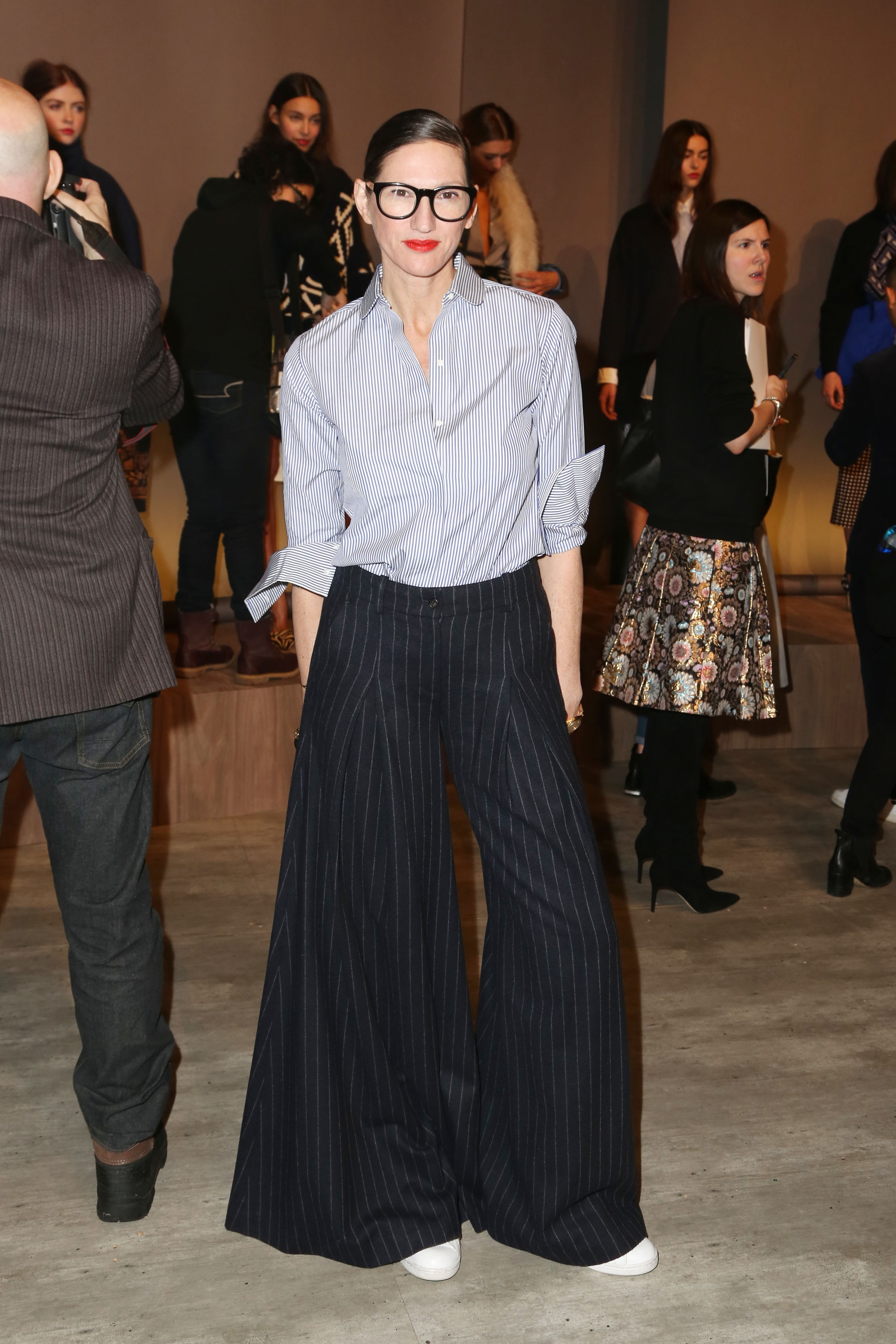 Jenna Lyons at J. Crew's fall and winter 2015 presentation in February (Photo: Patrick McMullan).