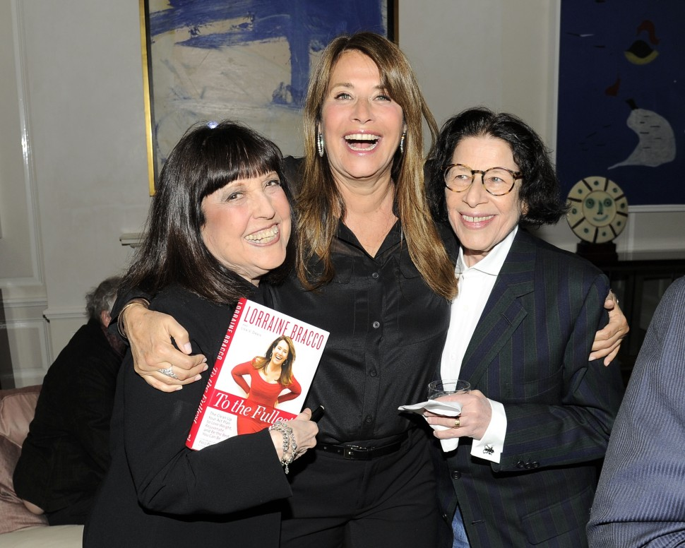 Lisa Robinson, Lorraine Bracco, Fran Liebowitz (Nicholas Hunt/PatrickMcMullan.com)