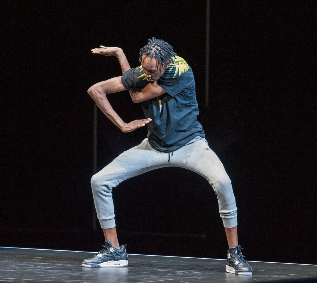 A dancer in FLEXN at the Armory.