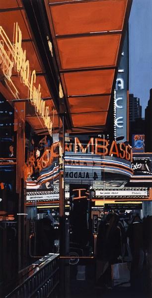 Study XIII, Theater, 1997). © Richard Estes, courtesy Marlborough Gallery, New York)