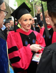 JK Rowling at Harvard University (Photo by Robert Spencer/Getty Images)