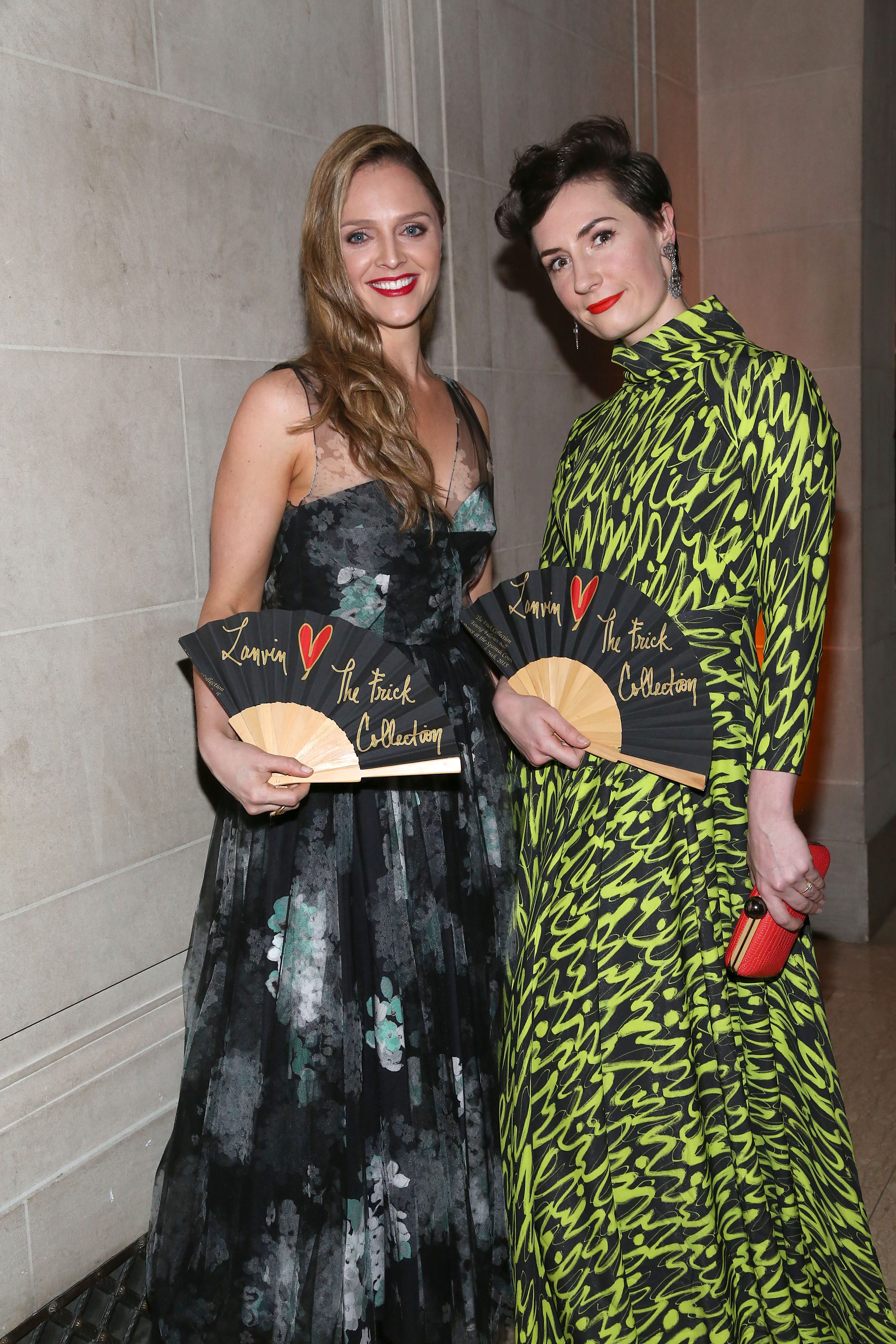 Angela Ledgerwood and Charlotte Greenough at the Frick Collection Young Fellows Ball (Photo: Patrick McMullan).