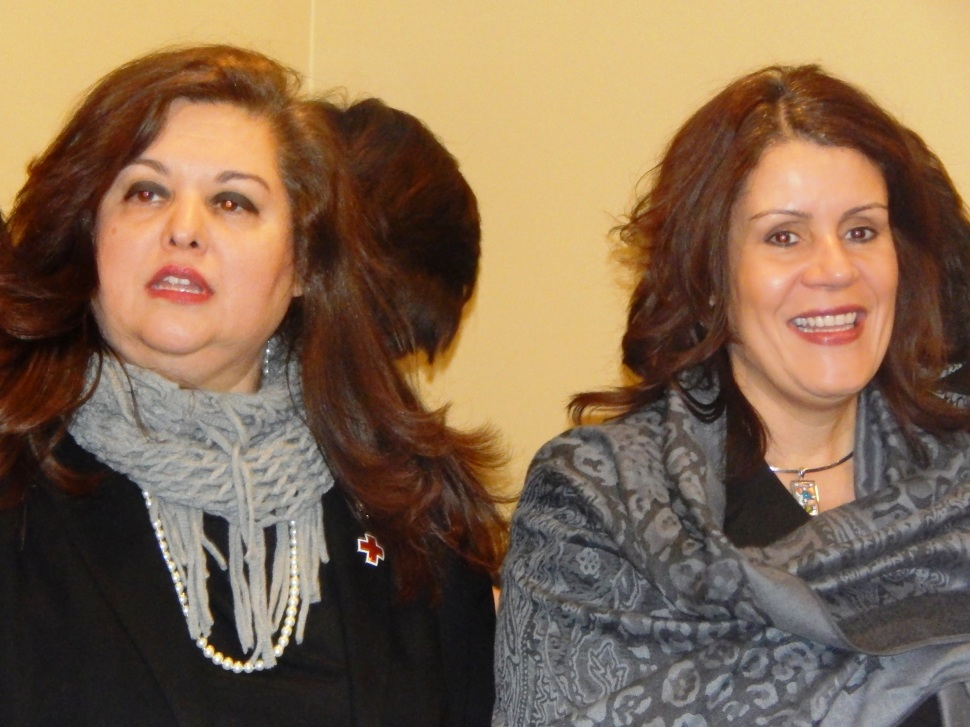 Assemblywoman Annette Quijano (D-20), left, and Perth Amboy Mayor Wilda Diaz.