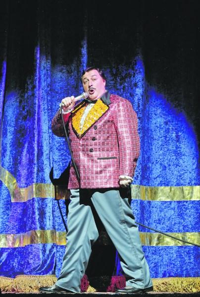 George Gagnidze  in Pagliacci. (Photo: Courtesy Met Opera)