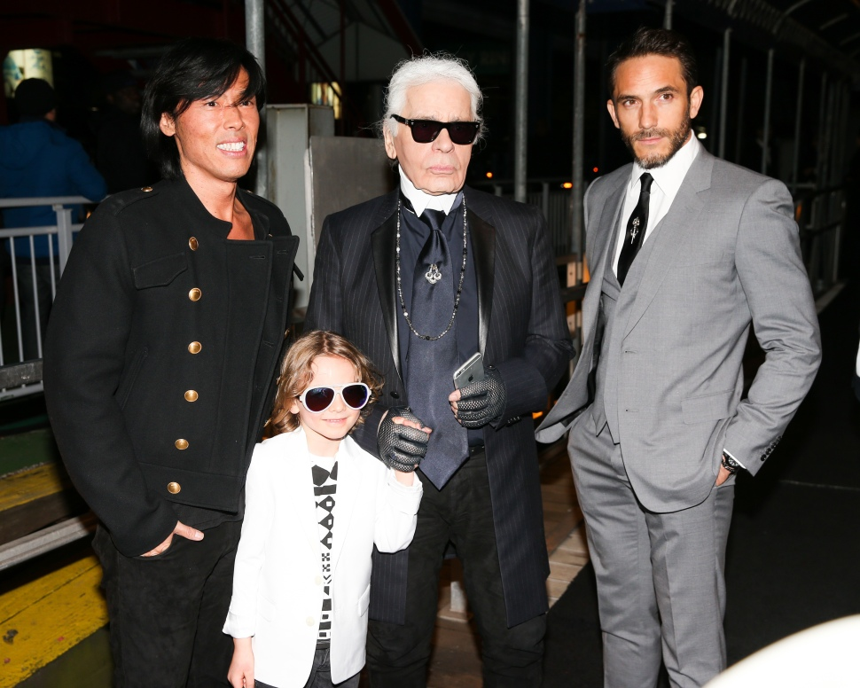 PRIVATE KARL LAGERFELD FRIENDS AND FAMILY'S CRUISE ON THE HUDSON RIVER, NYC