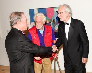 Michael Bloomberg, Mark di Suvero, Renzo Piano. (Photo by Neil Rasmus/BFA)