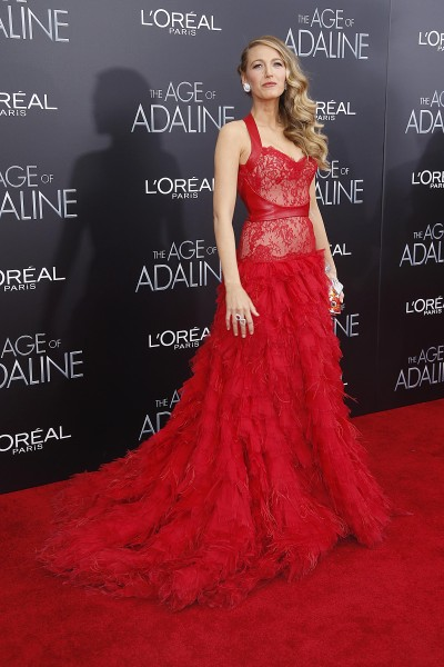 Blake Lively at the premiere of The Age of Adaline.