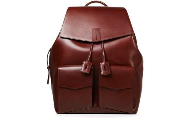 Ravi backpack in Rust Waxy Calf, $3,500.
