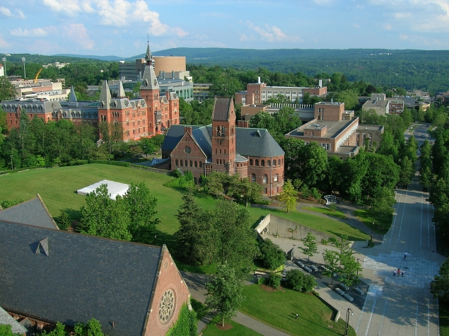 Cornell_University,_Ho_Plaza_and_Sage_Hall