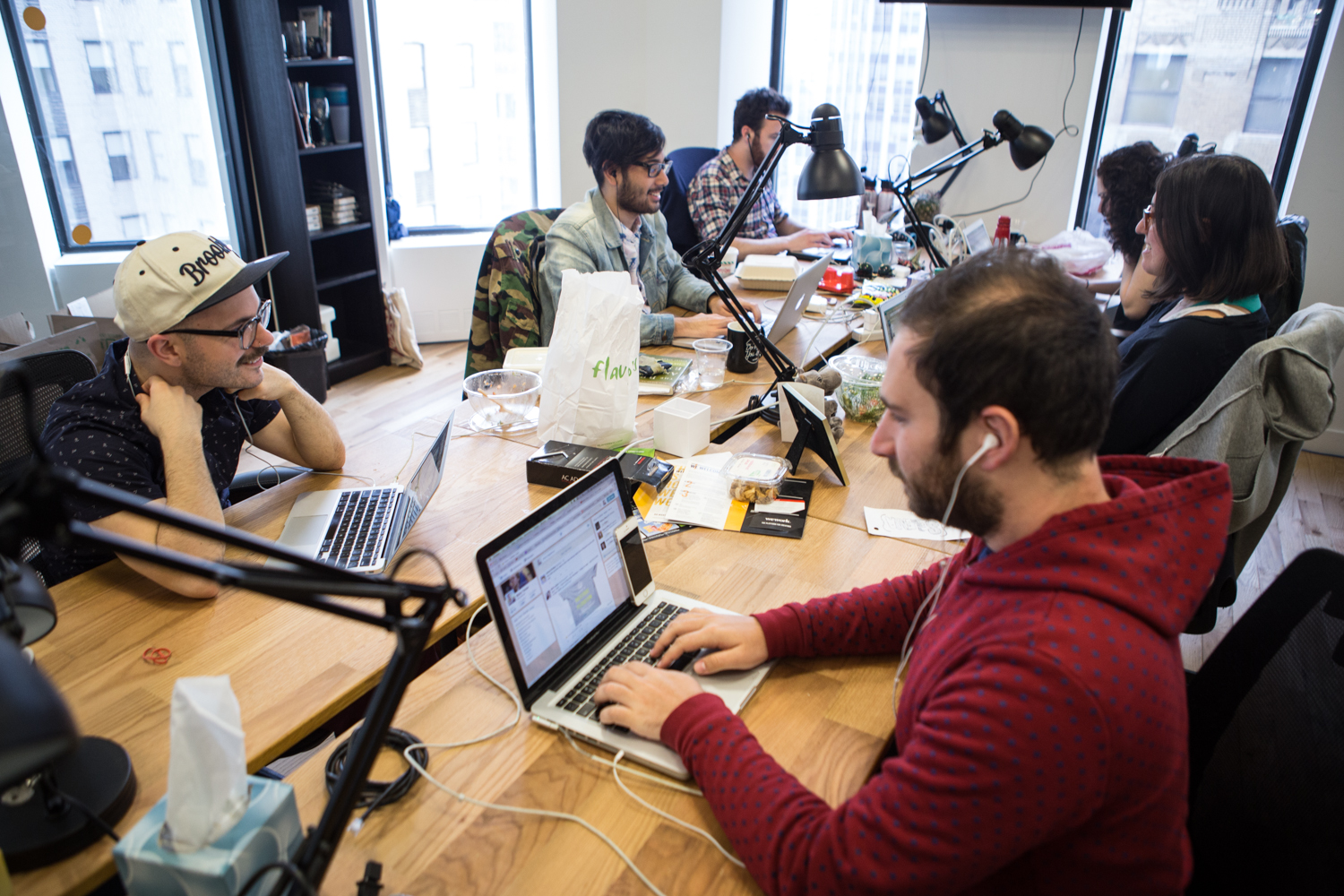The Daily Dot's NYC office is a small set of rooms at the back of a new coworking space near Wall Street. Only a year ago, they were a few people working from a coffee shop in Brooklyn. (Photo: Arman Dzidzovic/New York Observer)