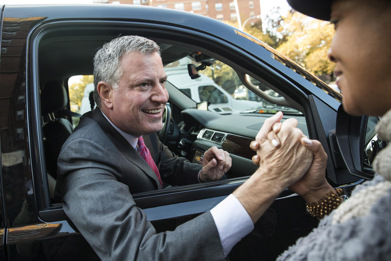 Mayor Bill de Blasio (Photo by Andrew Burton/Getty Images)
