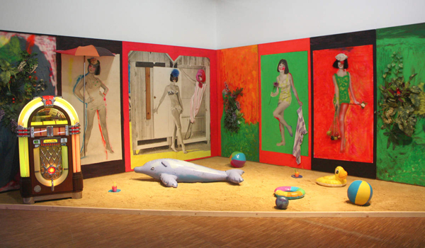 From Martial Raysse's installation Beach (Courtesty: Centre Pompidou).
