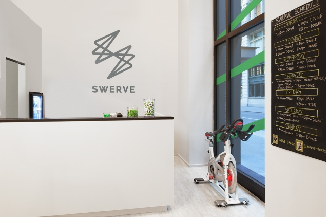 The lobby at SWERVE Fitness. (Photo: Lisa Russman).